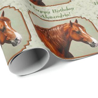 Kastanjebrun grönt för Morgan hästvis man Presentpapper
