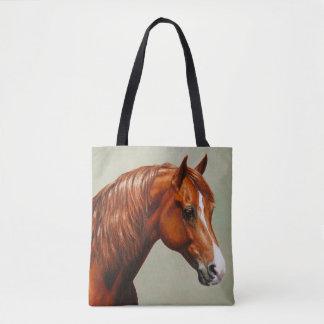 Kastanjebrun Morgan häst Tygkasse