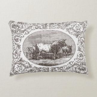 Kastar den vändbara kon & får för vintagestil prydnadskudde