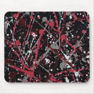 Kastat måla den Mousepad Röd-grå färg-svarten Mus Mattor