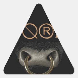 Kåt (färg) triangelformat klistermärke