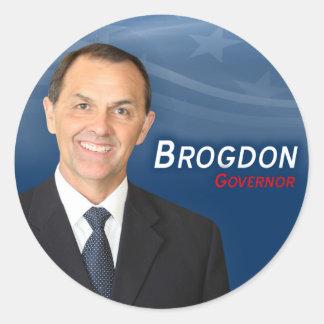 Kåta Brogdon klistermärkear Runt Klistermärke
