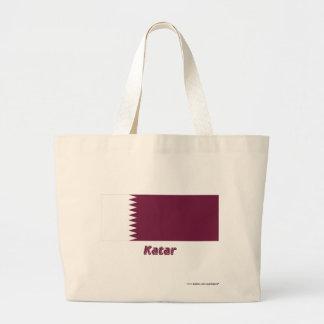 Katar Flagge mit Namen Kasse