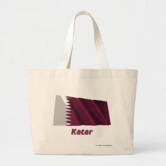Katar Fliegende Flagge mit Namen Tygkassar