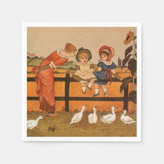 Kate Greenaway, ankor för Victoriankvinnabarn Servett