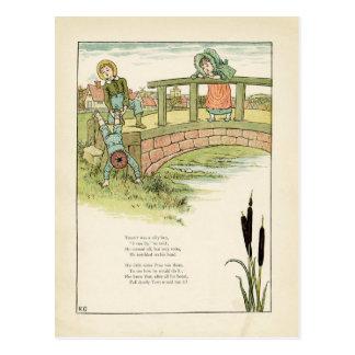 Kate Greenaway barns illustration Vykort