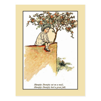 Kate Greenaway: Humpty Dumpty Vykort