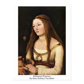 Katharina Schwarz av Hans Holbein fläderen Vykort