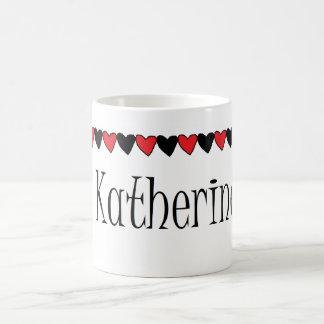 Katherine hjärtanamn kaffemugg