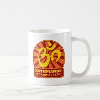 Kathmandu New Agerörelsen och buddistiskt Kaffemugg