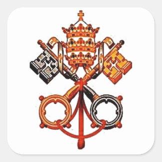 Katolik Fyrkantigt Klistermärke
