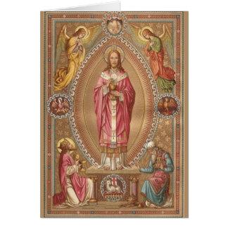 Katoliken för Jesus KristusEucharist samlas det Hälsningskort