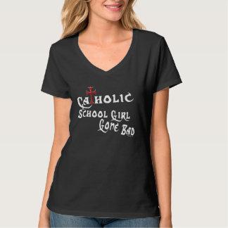 Katoliken skolar flickan (mörk) t shirts