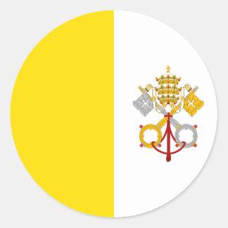 Katolsk Rome för Vatican City flagga gåva Runt Klistermärke