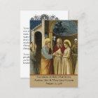 Katolskt kort för heliga för bröllopbönfavör
