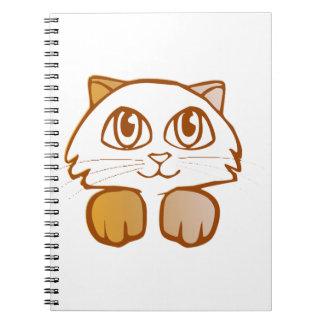 Katt Anteckningsbok Med Spiral