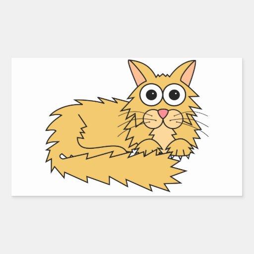 Katt Rektangelformade Klistermärken