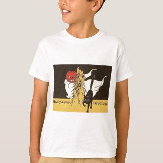 Katt Cornstalk för svart för spöke för jackO lykta T Shirt