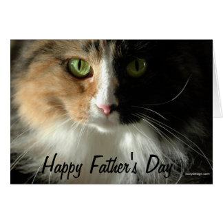 Katt fars dag för lycklig för ögakort hälsningskort