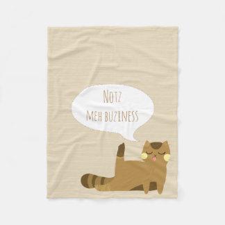 """Katt """"för inte min affär"""" fleecefilt"""