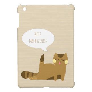 """Katt """"för inte min affär"""" iPad mini skal"""