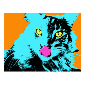 Katt för popkonstMaine Coon Vykort