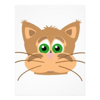 Katt huvud brevhuvud