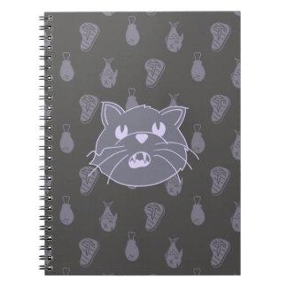 Katt i Awe av mat Anteckningsbok