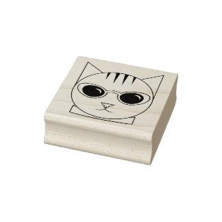 Katt i det Rubber frimärket för Katt-Öga Stämpel