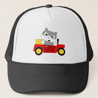 Katt i en bil - gullig kattungekörning keps