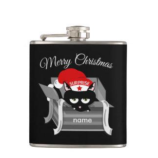 Katt i god jul för en boxas fickplunta