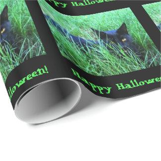 Katt-i-Gräs Halloween anpassningsbar Presentpapper