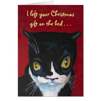 Katt julgåva hälsningskort