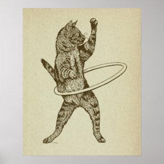 Katt med den Hula ringen Poster