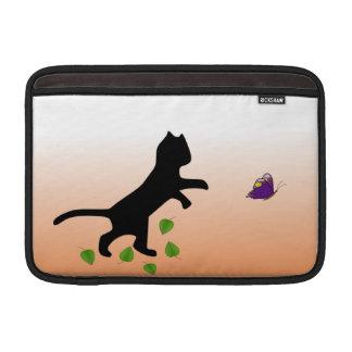 Katt med fjärilen MacBook sleeve