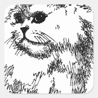 Katt mobila Covers-Cases.jpg Fyrkantigt Klistermärke