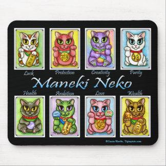 Katt Mousepad för fantasi för Maneki Neko lycka Musmatta