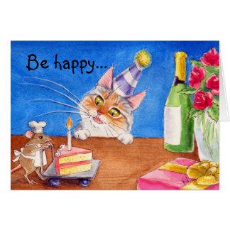 Katt- & musfödelsedagkort hälsningskort