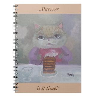 katt- & mustårtakonst anteckningsbok