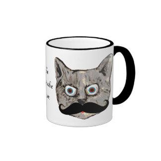 katt mustasch ringer mugg