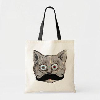 katt mustasch tygkasse
