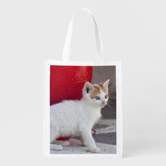 Katt Mykonos, Grekland Återanvändbar Påse