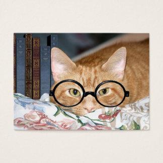 Katt och bokar ACEO Visitkort