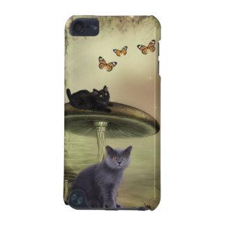 Katt- och fjärilsipod touch case