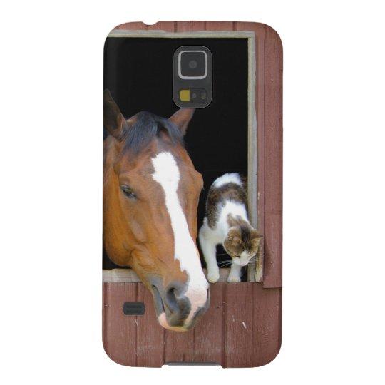Katt och häst - hästranch - hästälskare galaxy s5 fodral
