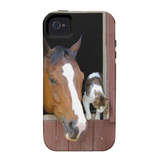 Katt och häst - hästranch - hästälskare iPhone 4 fodral