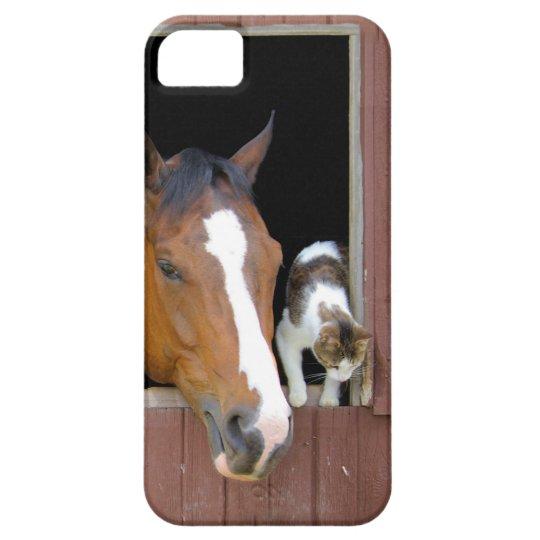 Katt och häst - hästranch - hästälskare iPhone 5 skydd