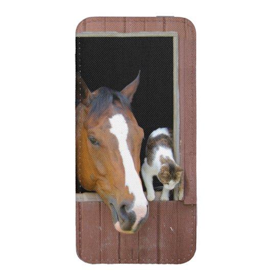 Katt och häst - hästranch - hästälskare mobil fodral ficka
