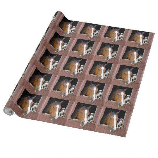 Katt och häst - hästranch - hästälskare presentpapper