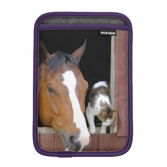 Katt och häst - hästranch - hästälskare sleeve för iPad mini